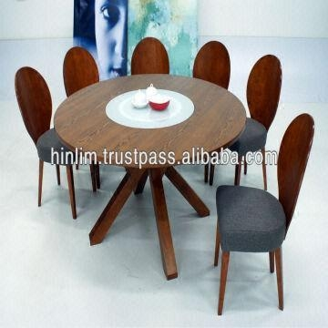 Budget 6 Seater Functional Wooden Dining Set With Clifford Glass Pertaining To Glass 6 Seater Dining Tables (Photo 7 of 20)