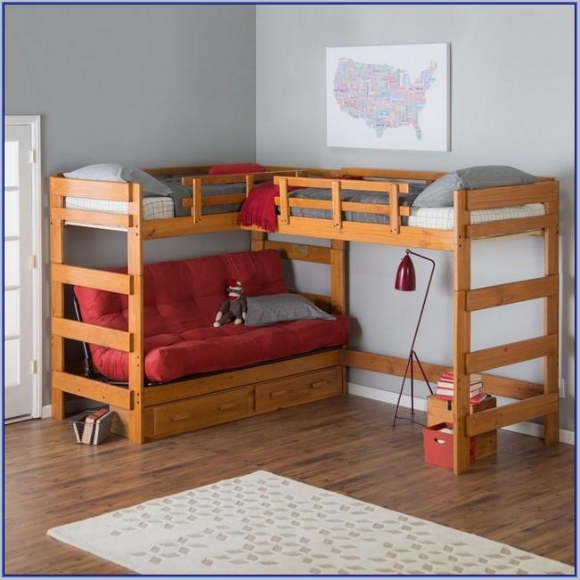 Bunk Bed With Sofa Underneath Bed With Futon Underneath Pertaining To Bunk Bed With Sofas Underneath (Image 11 of 20)