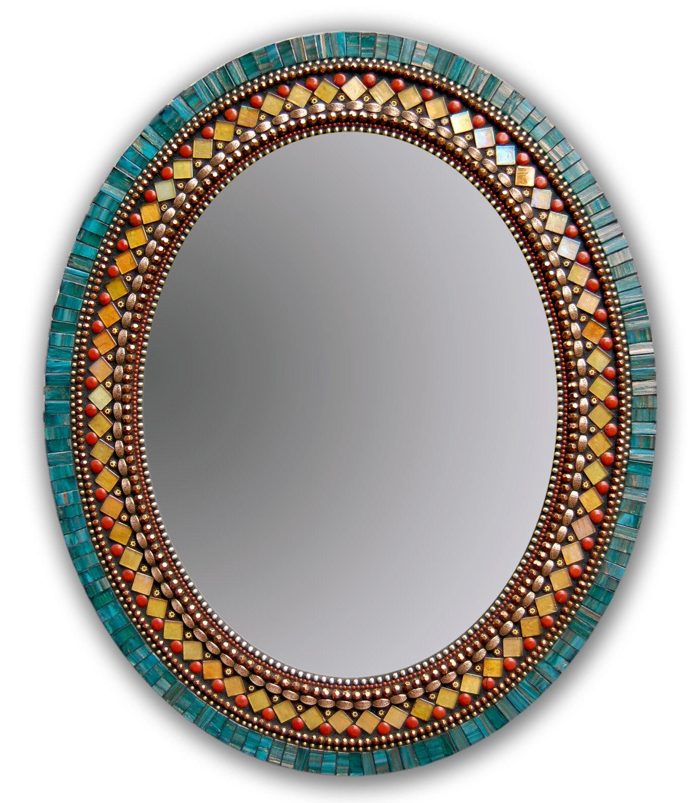 Butterfly Mirrorangie Heinrich (Mosaic Mirror) | Artful Home Regarding Large Mosaic Mirror (Image 2 of 20)