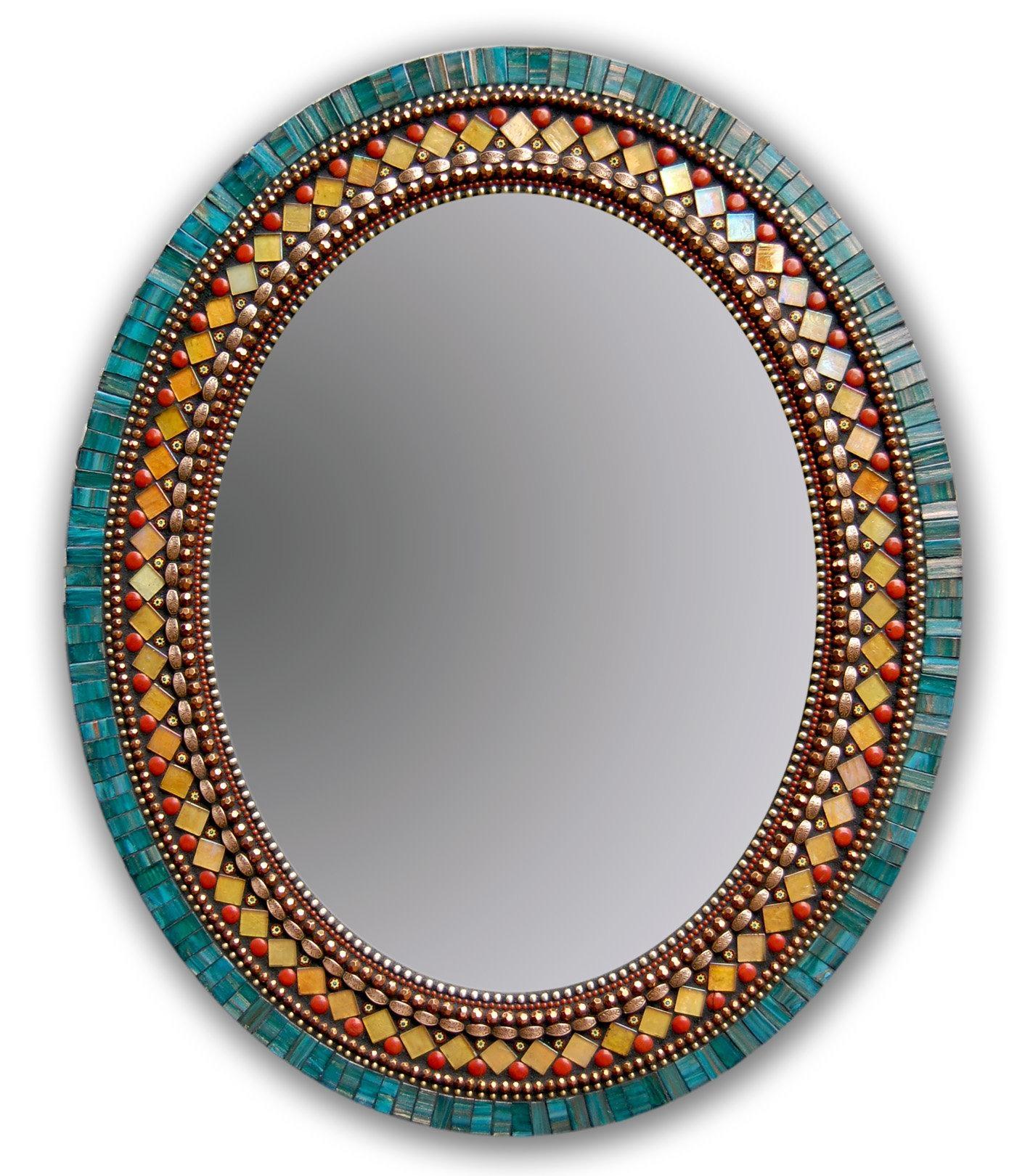 Butterfly Mirrorangie Heinrich (Mosaic Mirror) | Artful Home Regarding Large Mosaic Mirror (View 13 of 20)