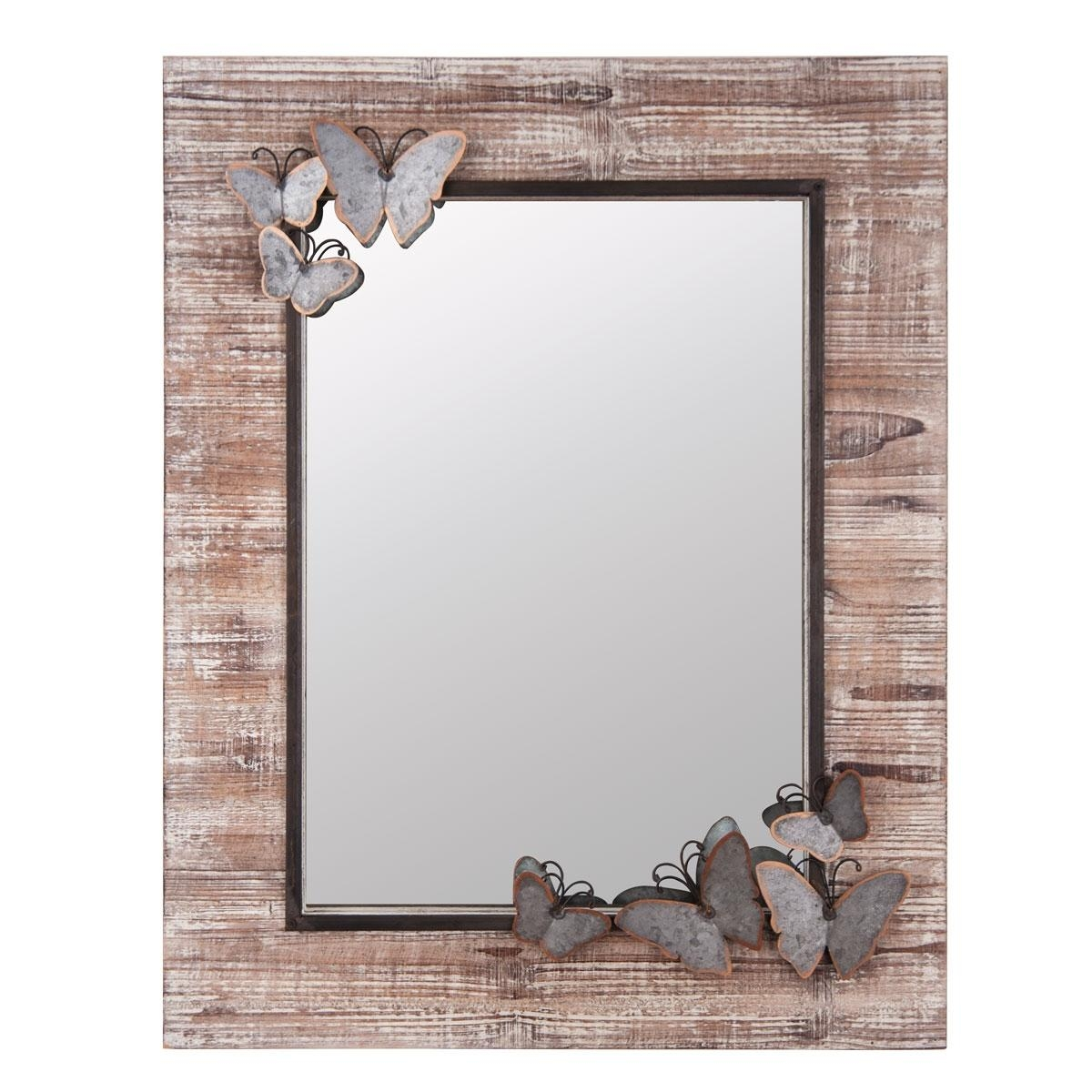 Butterfly Wood Frame Wall Mirror | Plum & Post With Regard To Butterfly Wall Mirrors (Image 3 of 20)