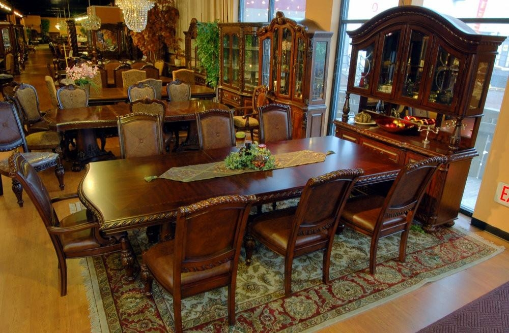 Buy Antoinette Mahogany Dining Tablesteve Silver From Www Pertaining To Mahogany Dining Table Sets (Image 3 of 20)