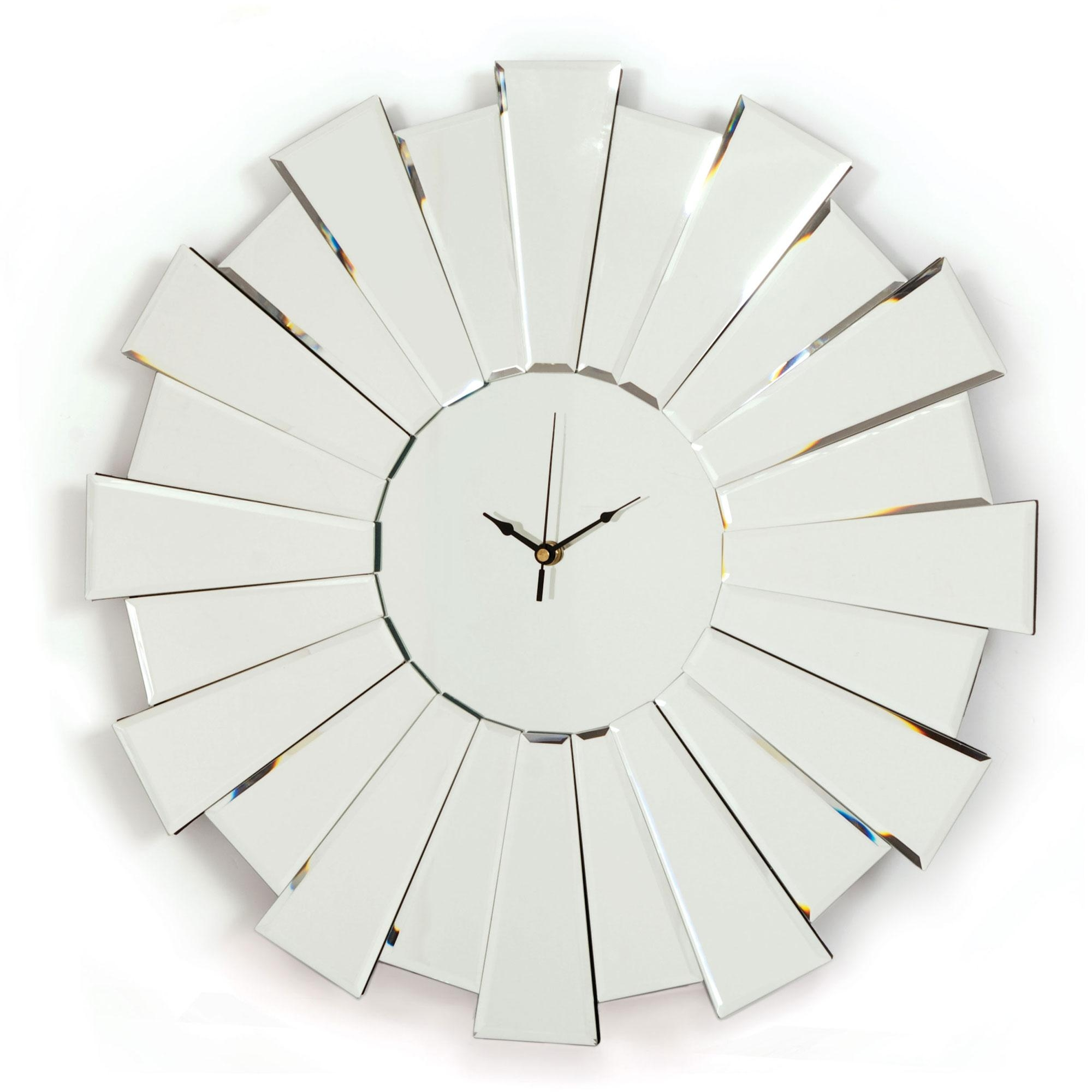 Buy Art Deco Style Mirrored Wall Clocks Online, Uk | Arrowfile In Buy Art Deco Mirror (Image 12 of 20)