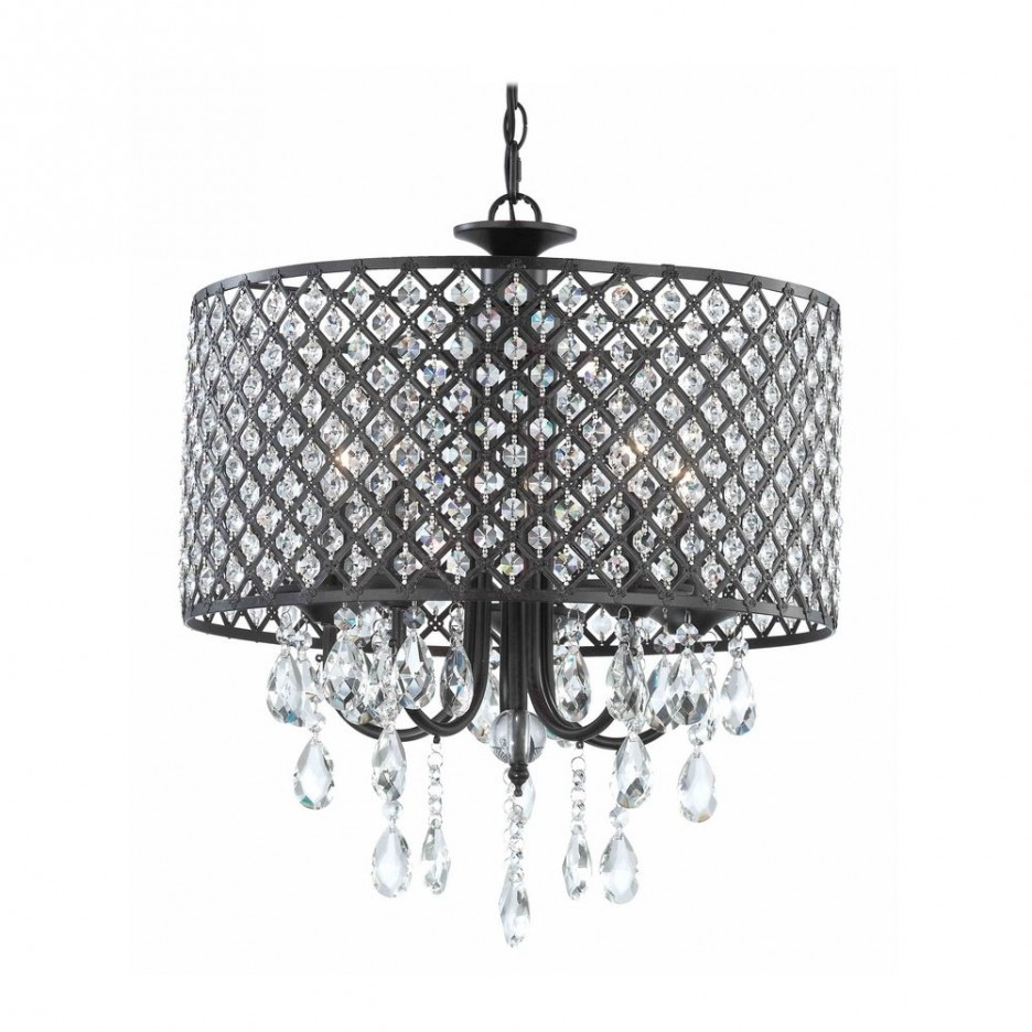 Buy Ashley Furniture L416124 Raschel Metal Table Lamp With Small Crystal Chandelier Table Lamps (Image 8 of 25)