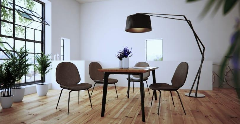 Buy Bell Dining Table And Phoenix Dining Chairs X 4 Online – Brosa Intended For Phoenix Dining Tables (Image 4 of 20)