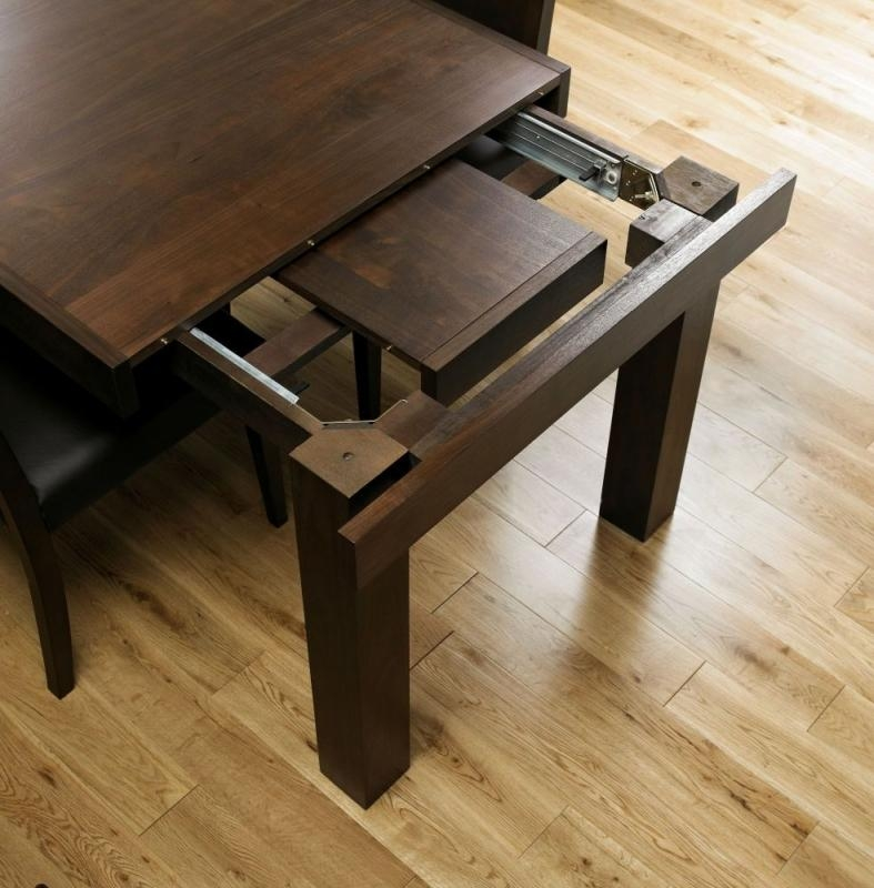 Buy Bentley Designs Akita Walnut Dining Table – 4 6 Seater End Within 4 Seater Extendable Dining Tables (Image 10 of 20)
