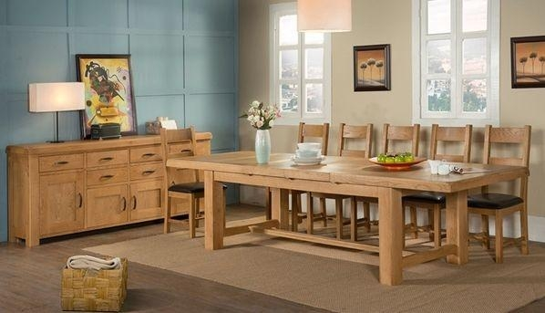 Buy Devonshire Clovelly Oak Dining Table – 8 Seater Online – Cfs Uk In 8 Seater Oak Dining Tables (Image 4 of 20)