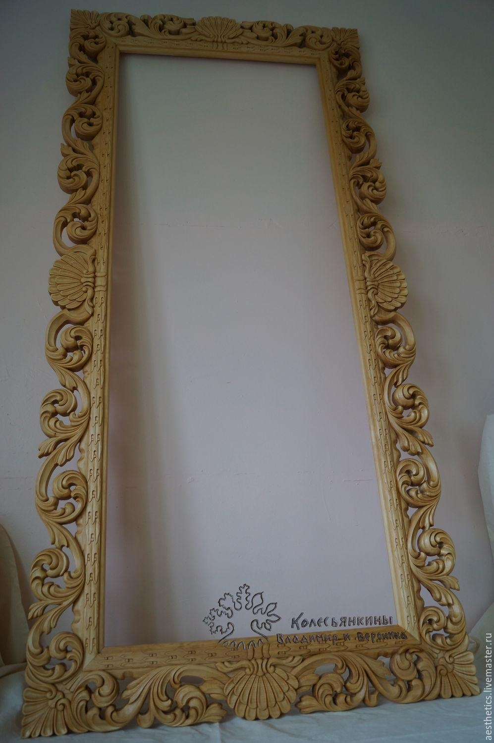 Buy Frame Baroque Mirror Carved (Image 6 of 20)