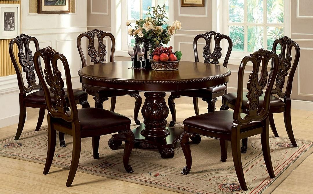 Buy Furniture Of America Cm3319Rt W Sc Set Bellagio Round Dining With Regard To Bellagio Dining Tables (Image 11 of 20)