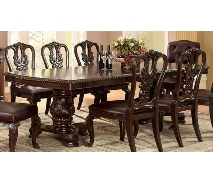 Buy Furniture Of America Cm3319T Bellagio Formal Dining Table In Bellagio Dining Tables (Image 12 of 20)