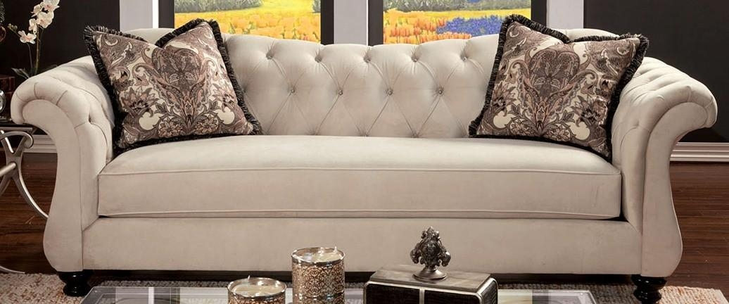 Buy Furniture Of America Sm2221 Sf Antoinette Sofa In Ivory With Antoinette Sofas (View 1 of 20)