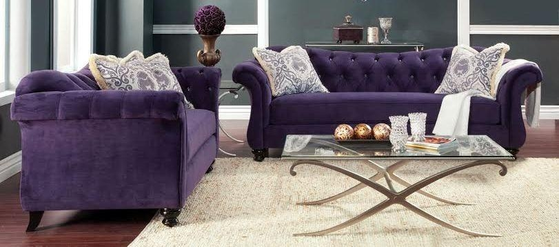 Buy Furniture Of America Sm2222 Set Antoinette Living Room Set With Antoinette Sofas (View 8 of 20)