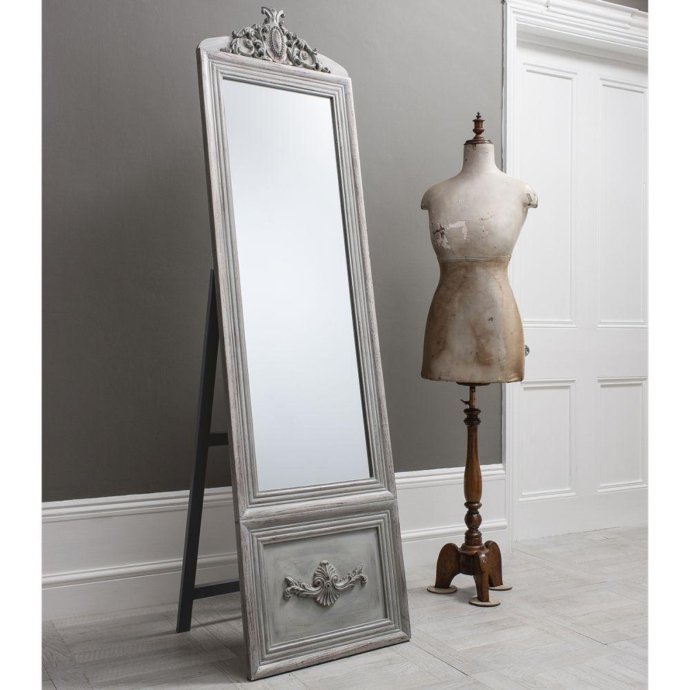 Buy Gallery Direct Belvedere Vintage Cheval Mirror – Silver Online For Vintage Silver Mirror (View 16 of 20)
