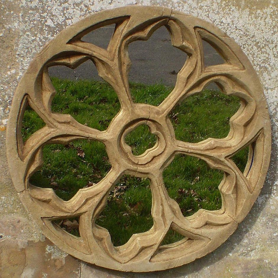 Buy Gothic Traceried Round Garden Mirror — The Worm That Turned In Gothic Garden Mirrors (Image 5 of 20)