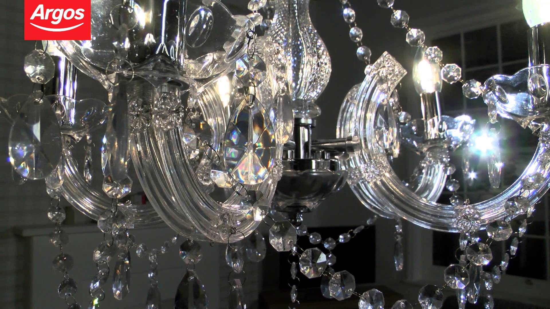 Buy Inspire Chandelier 5 Light Ceiling Fitting Youtube With Light Fitting Chandeliers (Image 5 of 25)