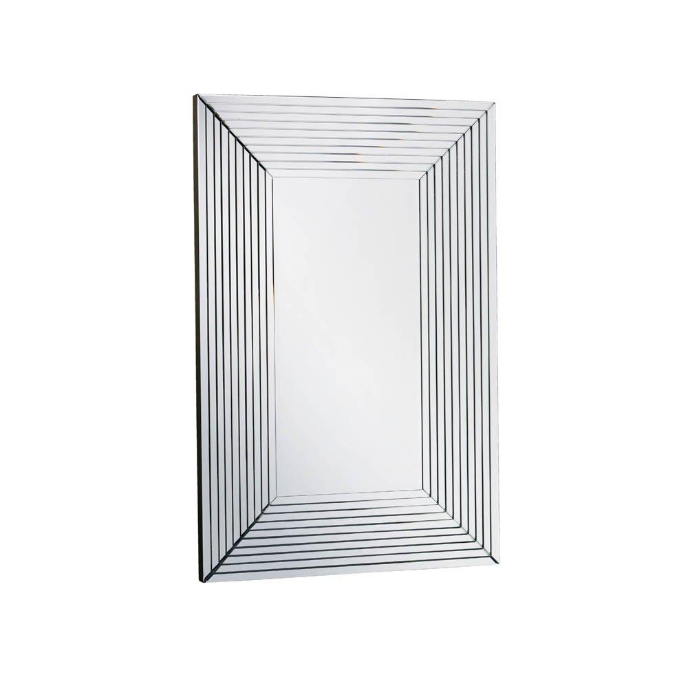 Buy Large Art Deco Wall Mirror | Art Deco Rectangular Wall Mirror Inside Artdeco Mirrors (Image 10 of 20)