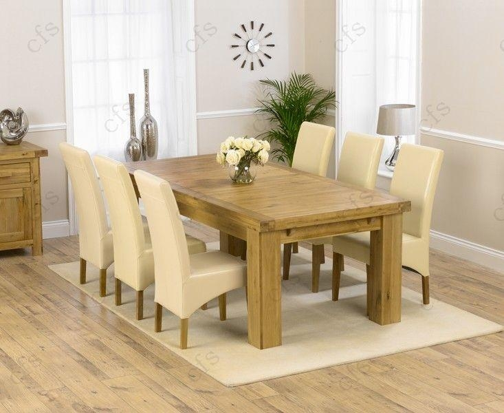 Buy Mark Harris Laurent Solid Oak 230Cm Extending Dining Set With Pertaining To Roma Dining Tables And Chairs Sets (Image 3 of 20)