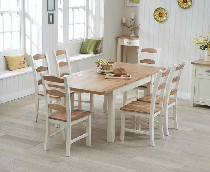 Buy Mark Harris Sandringham Oak And Cream 130Cm Extending Dining For Cream And Wood Dining Tables (View 11 of 20)
