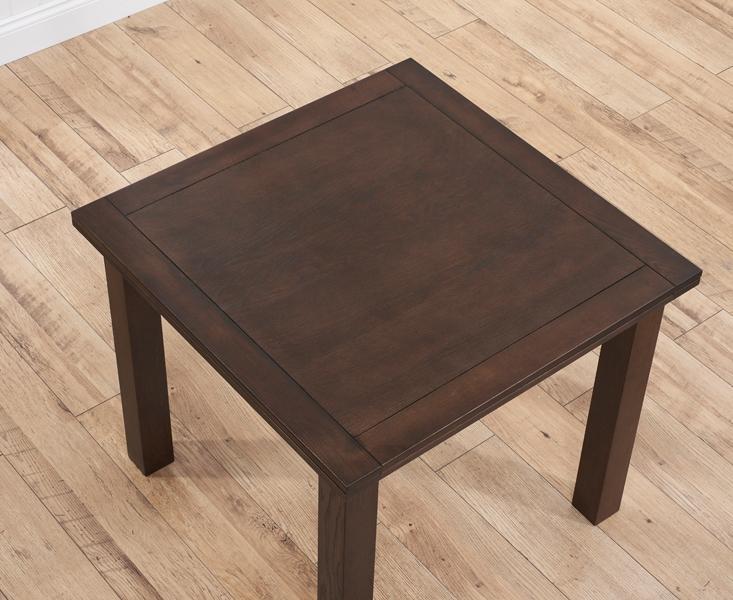 Buy Mark Harris Sandringham Solid Dark Oak 90Cm Flip Top Extending With Regard To Flip Top Oak Dining Tables (Image 1 of 20)