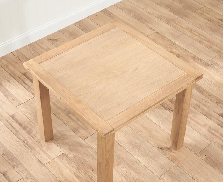 Buy Mark Harris Sandringham Solid Oak 90Cm Flip Top Extending For Flip Top Oak Dining Tables (Image 2 of 20)