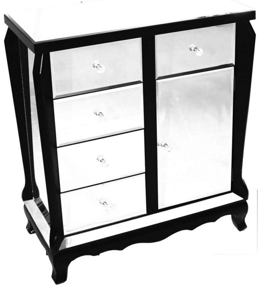 Buy Mirrored Cabinet With Black Trim Online – Cfs Uk Intended For Black Mirrored Cabinet (Image 8 of 20)