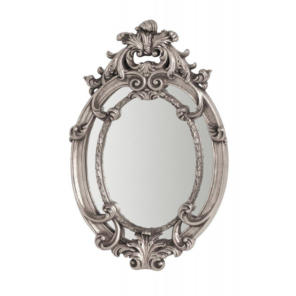 Buy Oval Vintage Style Silver Wall Mirror From Fusion Living With Vintage Style Mirrors (Image 9 of 20)