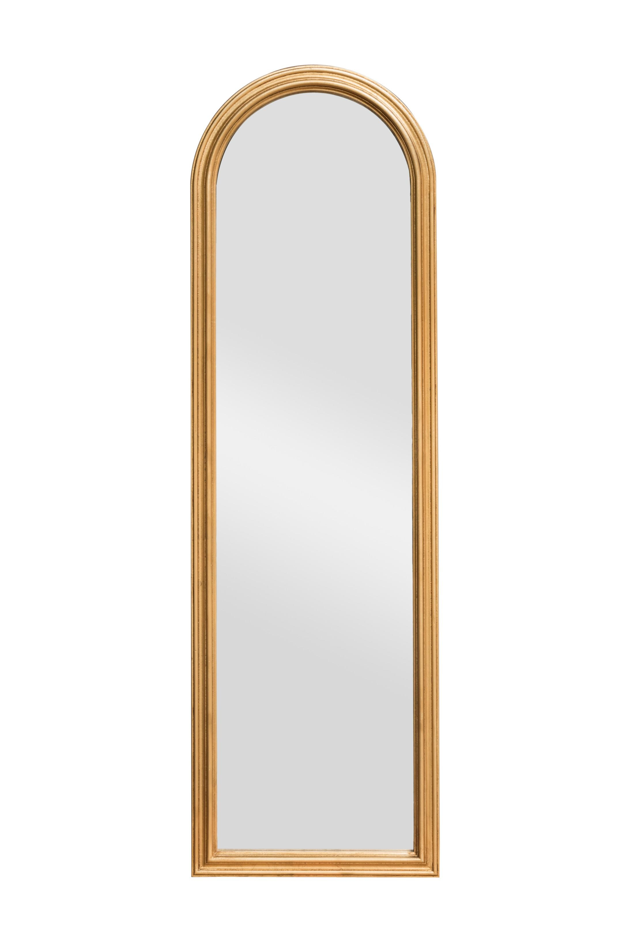 Buy Petite Mirror Gold Leaf At Discounted Price – Panfili Mirrors Throughout Gold Arch Mirror (Image 2 of 20)