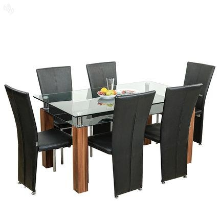 Buy Royaloak Barcelona Dining Table Set With Six Chairs Online Throughout Barcelona Dining Tables (Image 10 of 20)