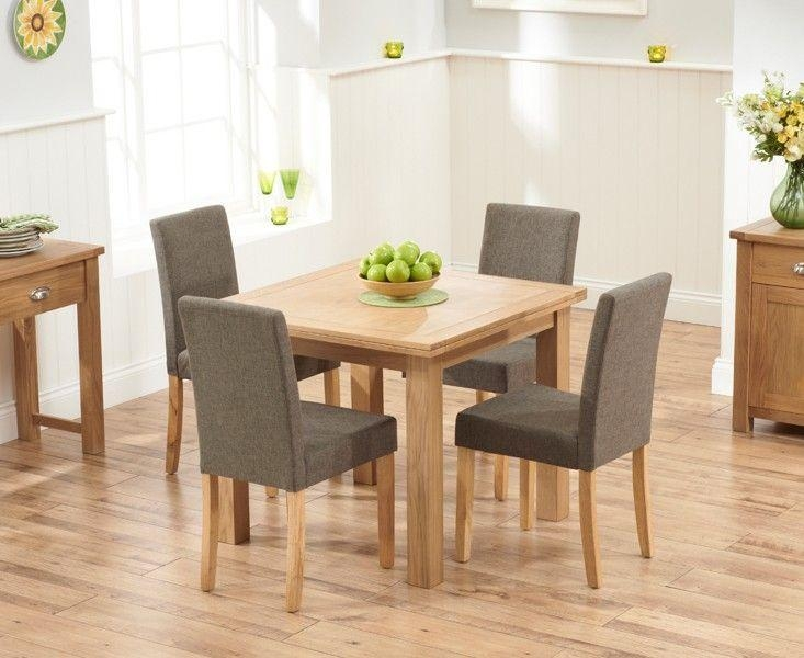 Buy The Somerset 90Cm Flip Top Oak Dining Table With Mia Fabric With Flip Top Oak Dining Tables (Image 4 of 20)
