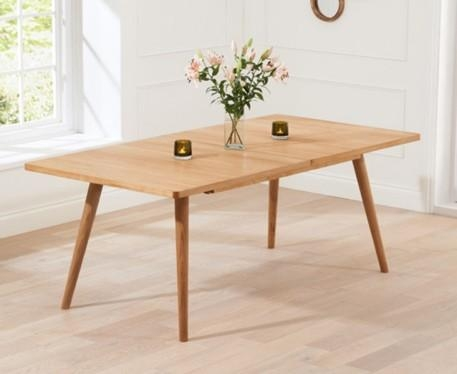Buy The Tivoli 150Cm Retro Oak Extending Dining Table At Oak Intended For Retro Extending Dining Tables (View 9 of 20)