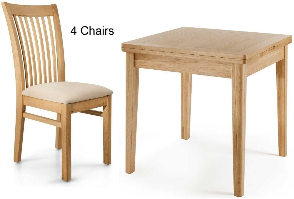 Buy Willis And Gambier Spirit Oak Flip Top Dining Table With 4 For Flip Top Oak Dining Tables (Image 5 of 20)