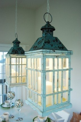 Cage Chandelier Foter Regarding Turquoise Lantern Chandeliers (View 5 of 25)