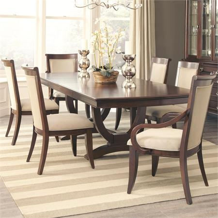 Caldwell Dining Table And 4 Side Chair And 2 Arm Chair Set With Dining Table Sets For  (Image 5 of 20)