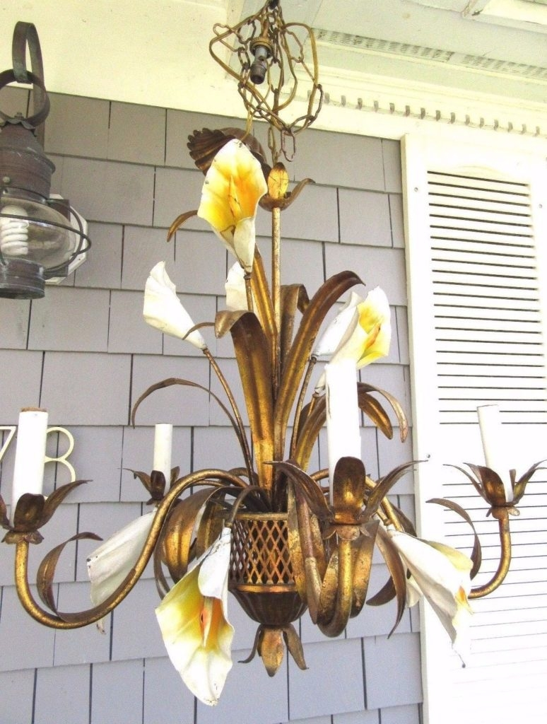 Calla Lily Chandelier Chandeliers Design Beauteous Antevortaco Inside Lily Chandeliers (Image 4 of 25)