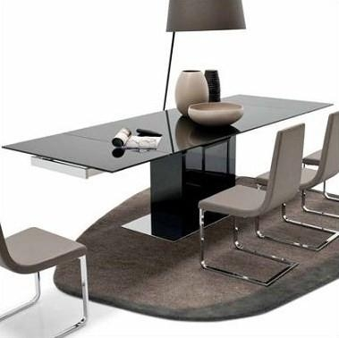 Calligaris Park Glass Extendable Dining Table Cs/4039 Gr – Dining Throughout Glass Extending Dining Tables (View 15 of 20)