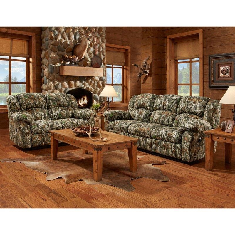 Cambridge Camo Double Reclining Sofa | Wayfair Within Camo Reclining Sofas (View 9 of 20)