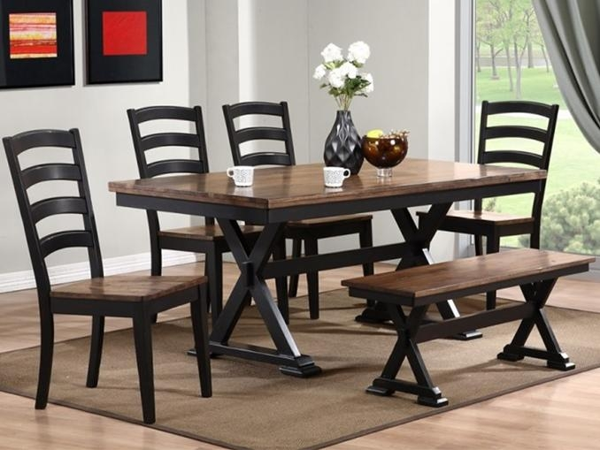 Cambridge Dining Table With 4 Chairs And A Bench – Bailey's Furniture With Regard To Cambridge Dining Tables (Image 7 of 20)
