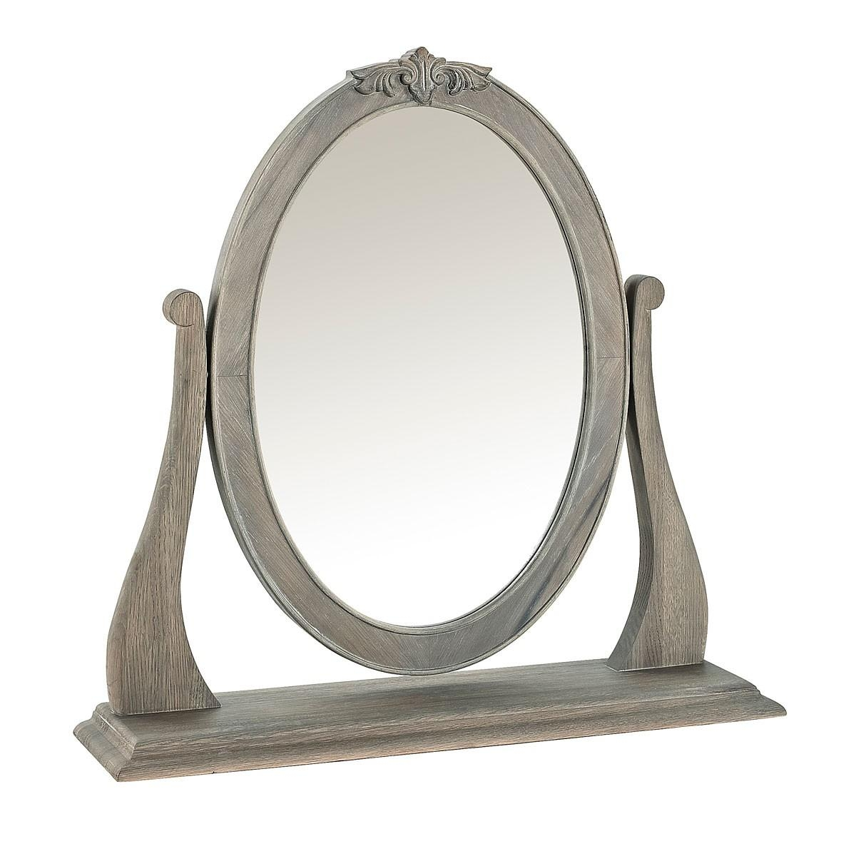 Camille French Style Dressing Table Mirror, Washed Oak | French For Dressing Table Mirrors (Image 3 of 20)
