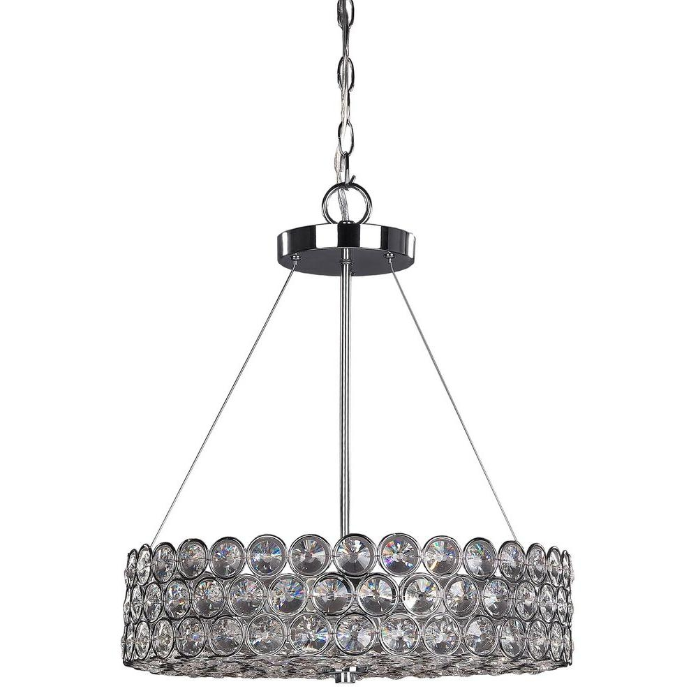Canarm Alice 3 Light Chrome Crystal Chandelier Rich104b03ch17 Within 3 Light Crystal Chandeliers (Image 2 of 25)