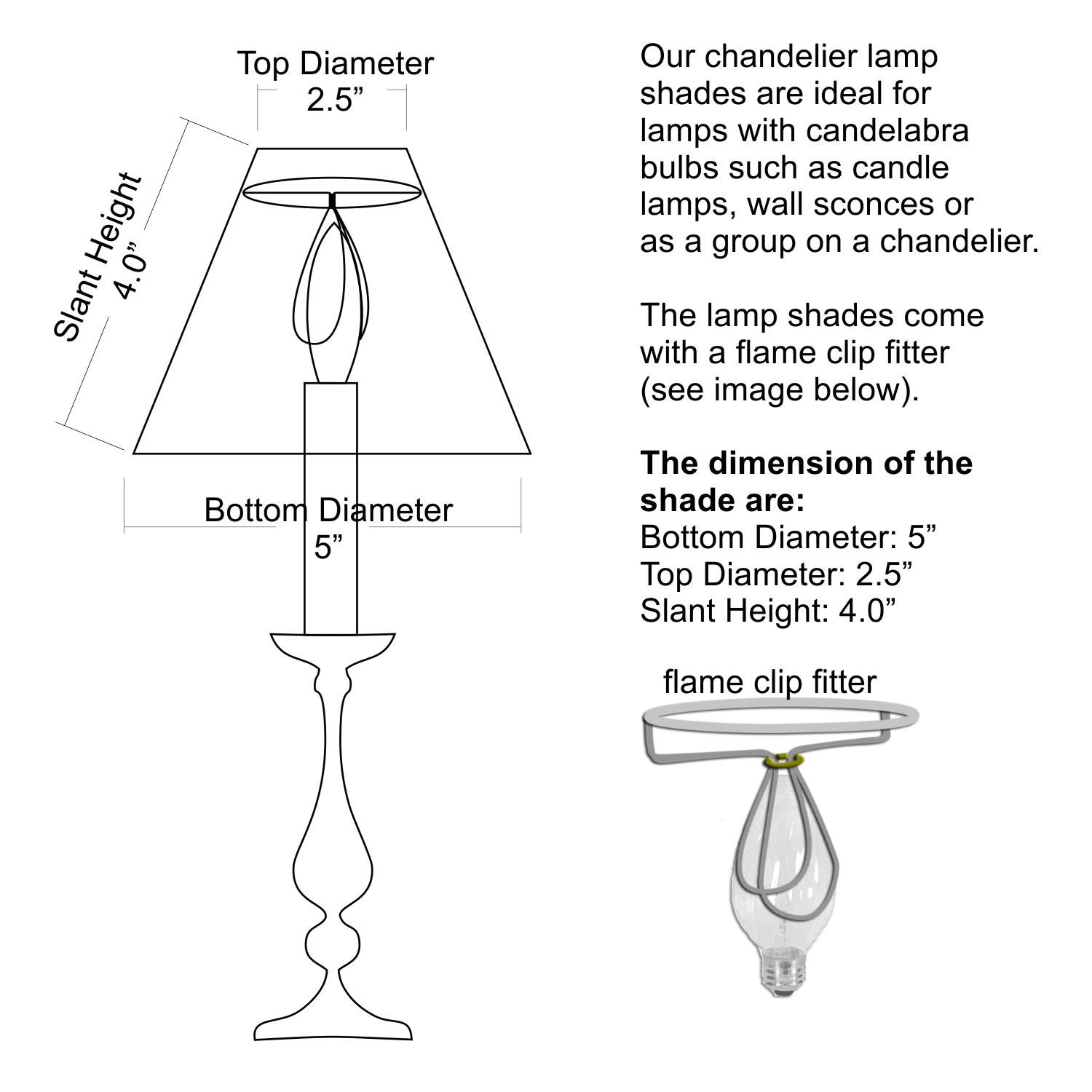 Candelabra Lamp Shades Candelabra Base Clear Glass Shade Led For Chandelier Lamp Shades Clip On (Image 5 of 25)