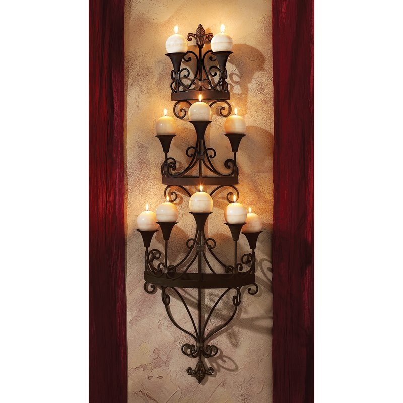 Candle Sconces Youll Love Wayfair Intended For Wall Mounted Candle Chandeliers (Image 17 of 25)