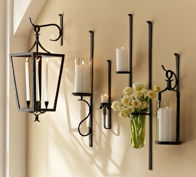 Candle Wall Sconces Pottery Barn Beautiful Chandeliers Candle With Wall Mounted Candle Chandeliers (Image 18 of 25)