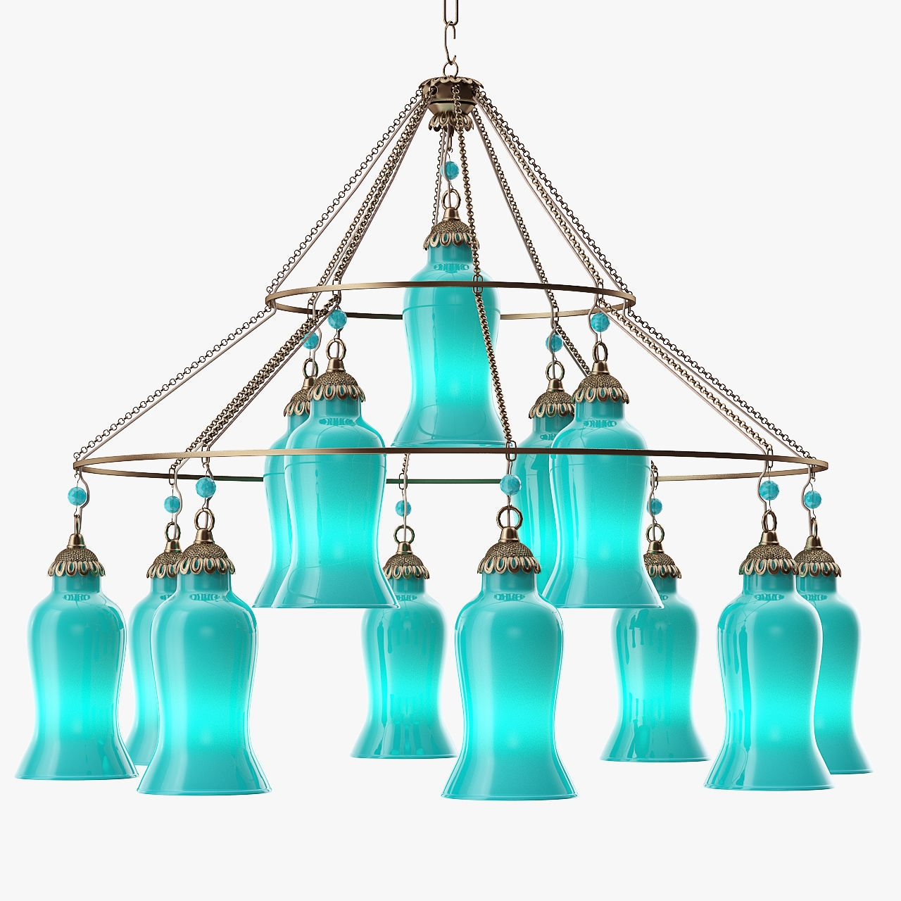 Canopy Designs Sara Glass Chandelier 3d Model Max Obj 3ds Fbx Mtl Throughout Turquoise Blue Glass Chandeliers (Image 6 of 25)
