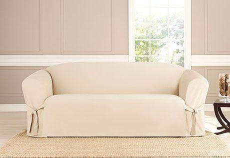 Canvas Sofa Slipcover | Design Your Life Throughout Canvas Slipcover Sofas (Image 7 of 20)