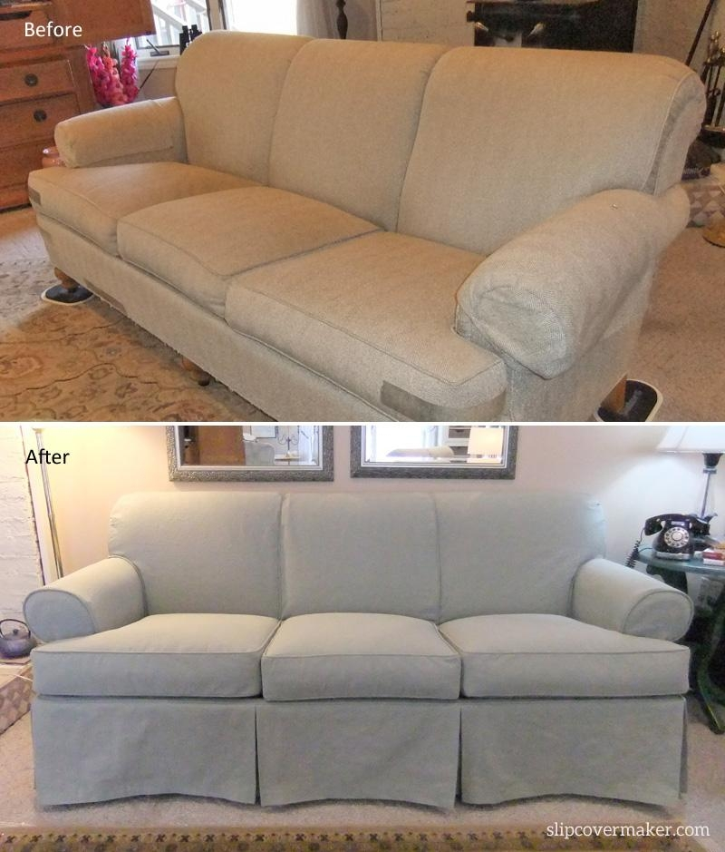 Canvas Sofa Slipcover | Design Your Life Within Canvas Slipcover Sofas (Image 8 of 20)
