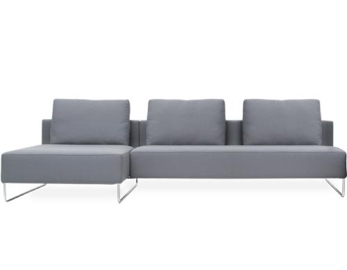 Canyon Sofa With Chaise – Hivemodern Throughout Bensen Sofas (View 5 of 20)