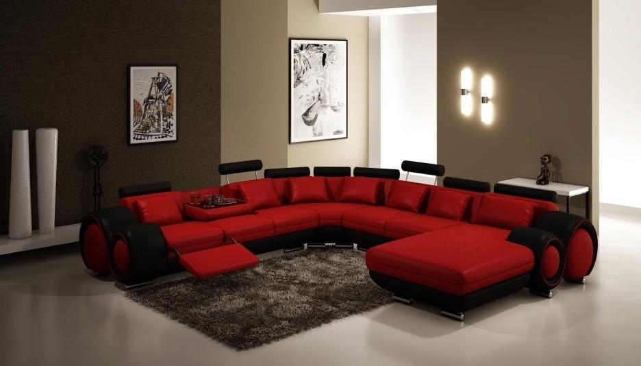 Captivating Red Living Room Furniture For Home – Red Living Room Intended For Black And Red Sofa Sets (Image 8 of 20)