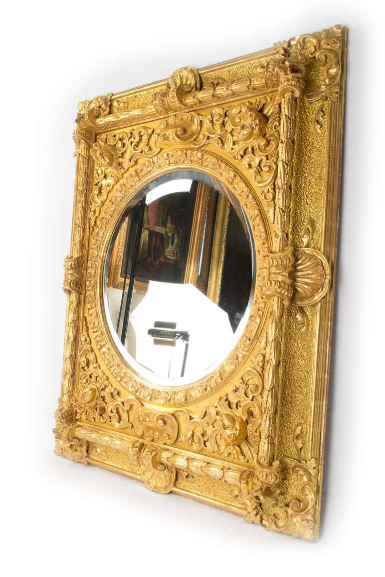 Carved And Gilt Italian Baroque Mirror For Sale At 1Stdibs Regarding Baroque Mirror Gold (Image 15 of 20)
