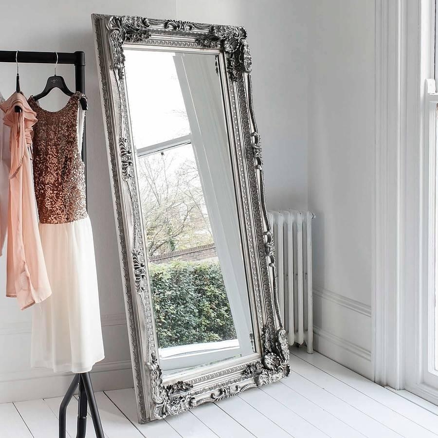Carved Floor Standing Mirrorprimrose & Plum Pertaining To Cream Floor Standing Mirror (View 15 of 20)