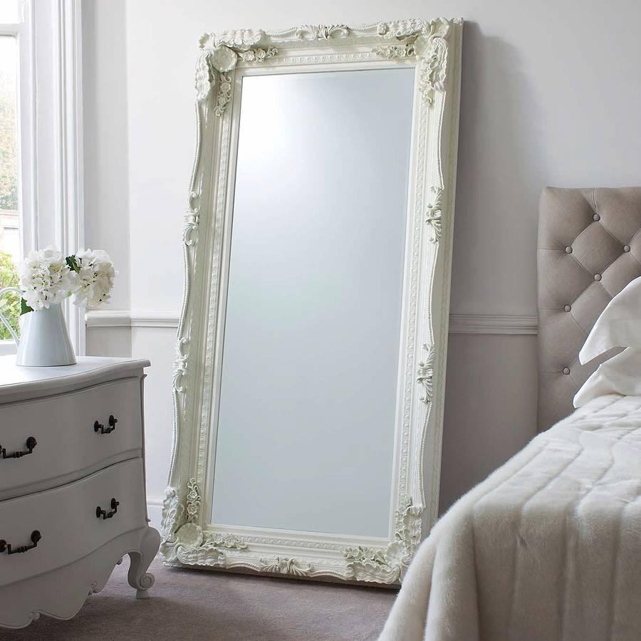 Carved Floor Standing Mirrorprimrose & Plum With Cream Floor Standing Mirror (View 4 of 20)